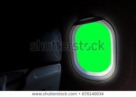 Ablakok zöld repülőgép copy space üveg fém Stock fotó © michaklootwijk