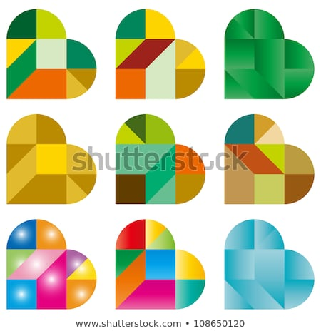 conceptual icon of heart shaped jigsaw puzzle stock photo © adrian_n