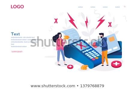 Handen boos kaart zakenman papier Stockfoto © Kurhan