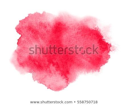 Rood aquarel vlek water papier verf Stockfoto © SArts