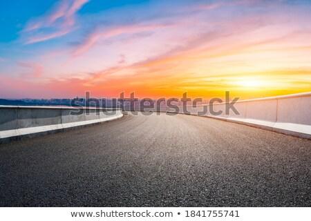 Gündoğumu büyük karayolu sonbahar iş Stok fotoğraf © Nneirda