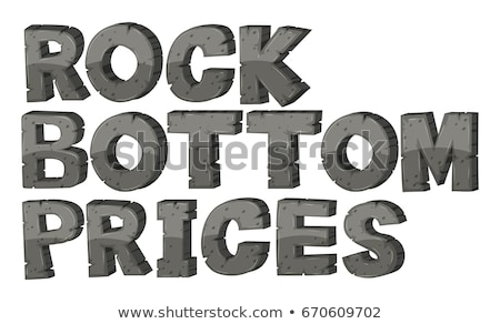 Font design for rock bottom prices Stock photo © bluering