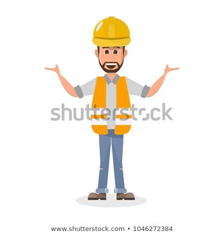инженер человека характер фотография дизайнера пер Сток-фото © shai_halud