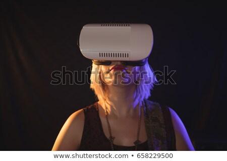 женщины гитарист виртуальный реальность ночном клубе Сток-фото © wavebreak_media