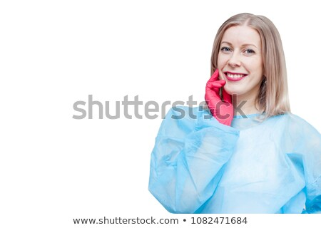 Smiling doctor and save space mockup background Stock photo © rogistok