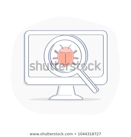 スパム 分析 虫眼鏡 古い紙 暗い 青 ストックフォト © tashatuvango
