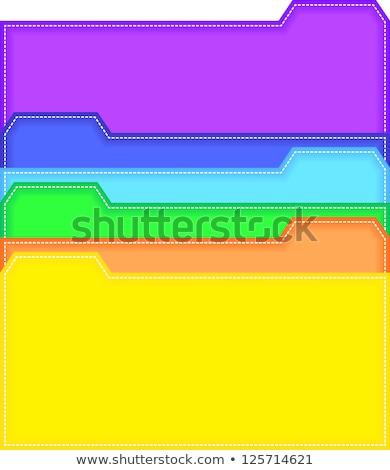 bestand · kaart · 3d · illustration · geschreven · archief · bladwijzers - stockfoto © tashatuvango