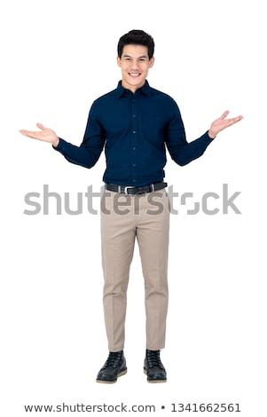 Charming model posing in palms Stock photo © dash