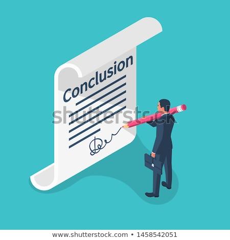 Business Goals Analysis - Text on Clipboard. 3D. Stock photo © tashatuvango