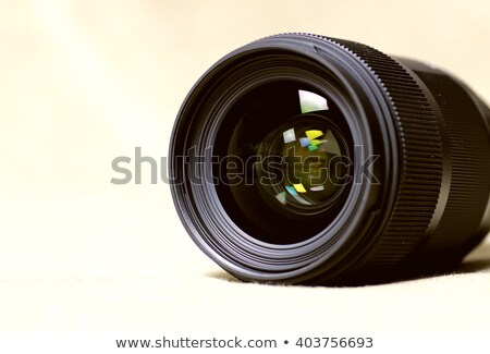 Media effect digitale camera lens kleurrijk Stockfoto © tashatuvango