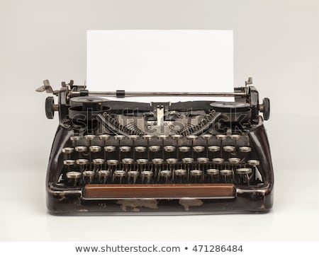 typewriter and blank paper stock photo © devon