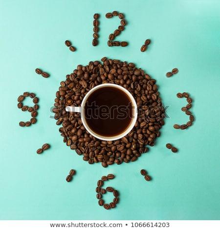 Café azul taza marcar superior vista Foto stock © borysshevchuk