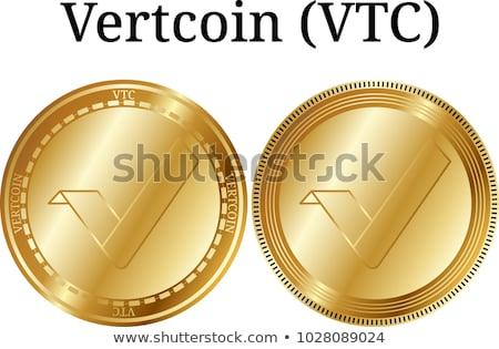Virtueel valuta vector munt symbool digitale Stockfoto © tashatuvango