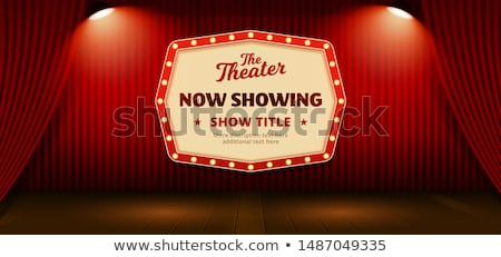 red double curtains template Stock photo © romvo