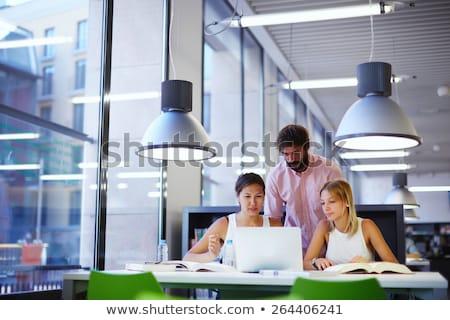 tre · piedi · edificio · per · uffici · pianificazione · lavoro · business - foto d'archivio © is2