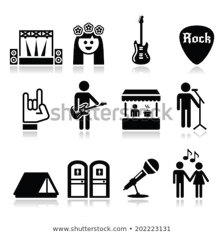 Guitarra signo vivir música rock concierto Foto stock © djdarkflower