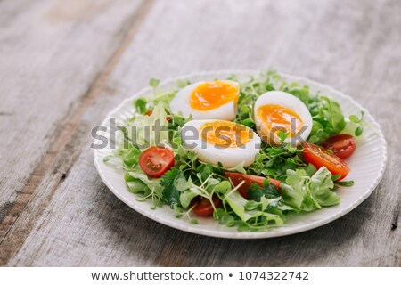 salad with boiled egg Stock photo © M-studio