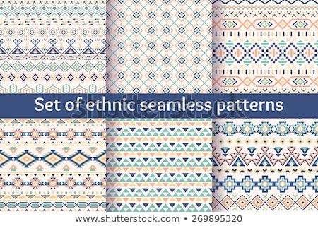 abstract zigzag aztec style pattern Stock photo © SArts