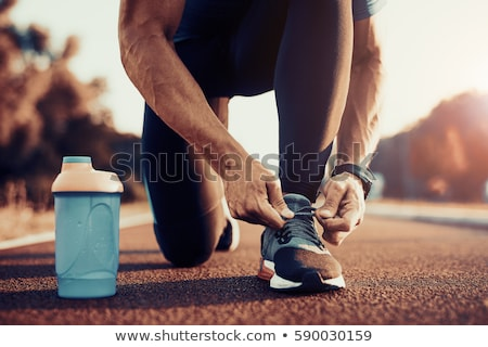 A Young Man Training for Marathon Stock photo © bluering