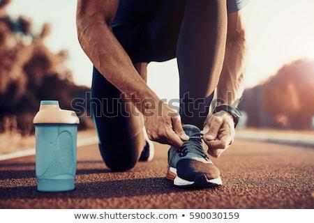 Giovane formazione maratona illustrazione strada strada Foto d'archivio © bluering