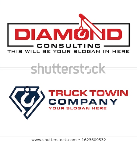 Blue and Black Abstract Diamond and Rectangle Shape Vector Illus Stock photo © cidepix
