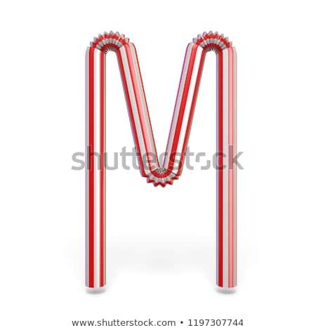 Potável palha fonte letra m 3D 3d render Foto stock © djmilic