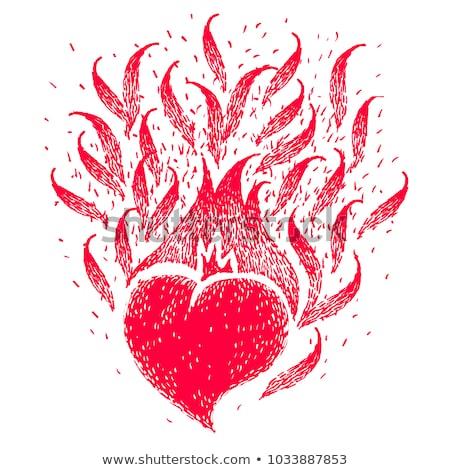火災 炎 新しい 黒 アイコン インターネット ストックフォト © Ecelop