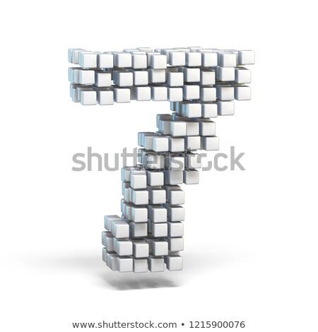 белый шрифт числа семь 3D Сток-фото © djmilic