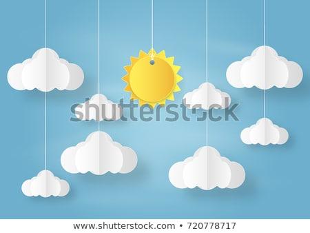 nuvoloso · cielo · banner · carta · vettore · eps8 - foto d'archivio © smeagorl