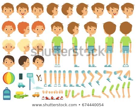 funny boy character cartoon illustration Stock photo © izakowski