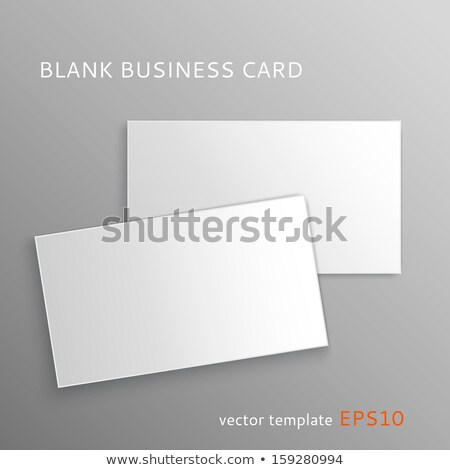 Businessman with Business Card Empty Page Vector Stock photo © robuart