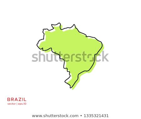 Бразилия логотип карта вектора икона дизайна Сток-фото © blaskorizov