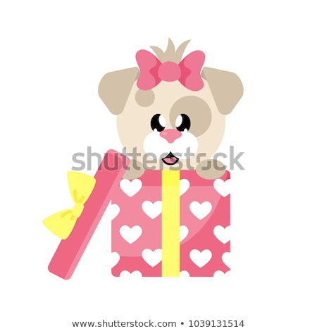 funny girl in present box with tie on the head stock photo © massonforstock