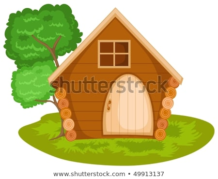 Isolated cabin house on fire Stock photo © bluering