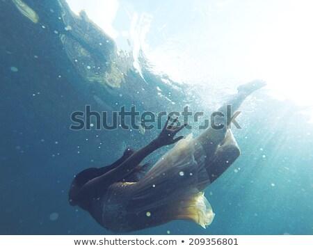 люди дайвинг подводного рыбы спорт морем Сток-фото © colematt