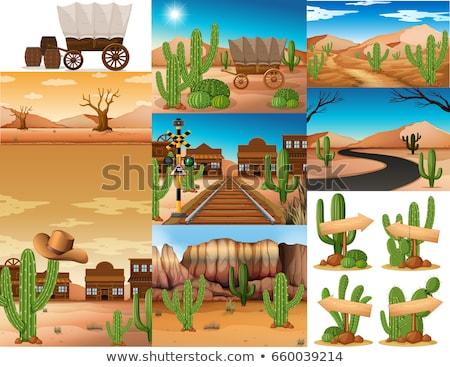 Zdjęcia stock: Pustyni · dziedzinie · ilustracja · krajobraz · tle