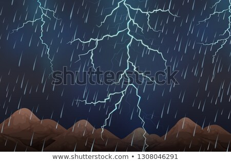 Donkere nacht hemel licht achtergrond regen Stockfoto © colematt