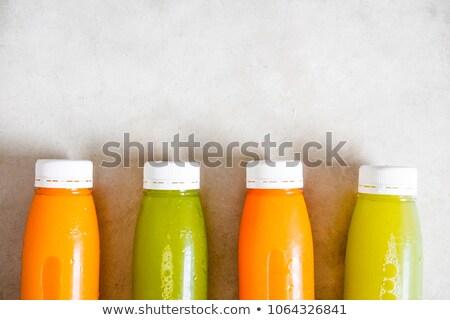 Stock fotó: Műanyag · üvegek · nyers · organikus · friss · narancslé
