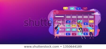 RACI matrix concept banner header. Stock photo © RAStudio