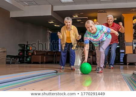 Mature woman bowling Foto stock © Kzenon