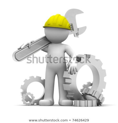 Reparar serviço mecanismo metal engrenagens 3D Foto stock © tashatuvango