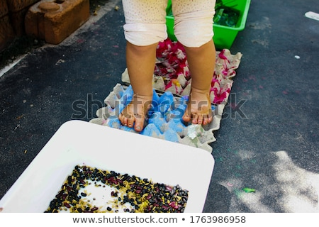 Stockfoto: Moeder · opleiding · baby · zomer · dag · familie