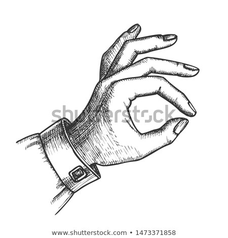 girl hand gesture okay ok approval sign ink vector stock photo © pikepicture