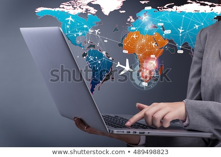 Woman Booking Online Air Ticket Stock photo © AndreyPopov