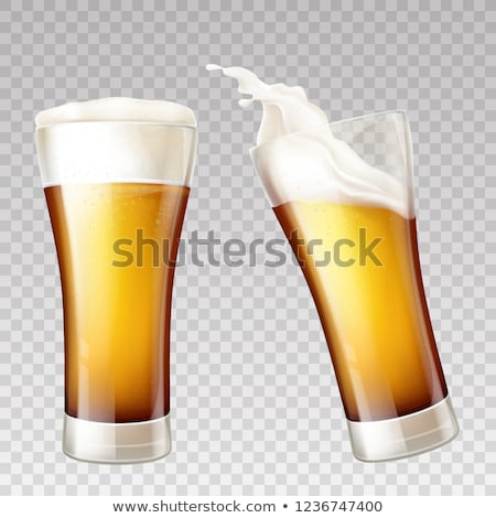 Beer Glass Cup Brewery Advertising Poster Vector Stock photo © pikepicture