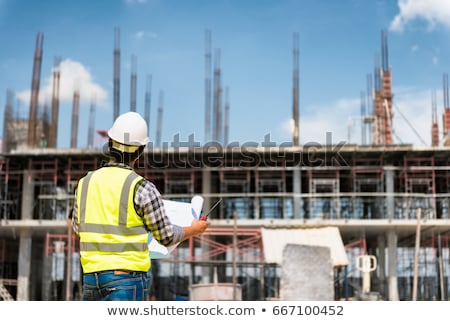 People Working on Construction of New Buildings Stock photo © robuart