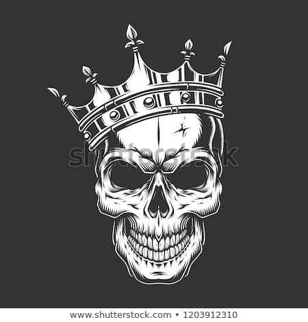 Crâne couronne roi humaine royal squelette Photo stock © Krisdog
