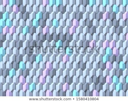 Soyut geometrik dört pastel renk küçük Stok fotoğraf © djmilic