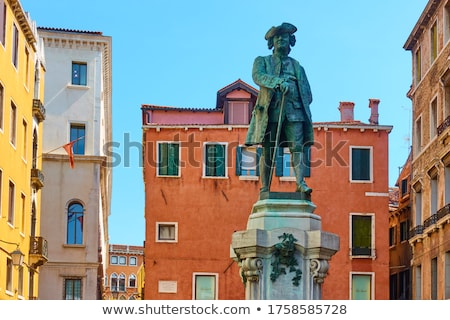 Monument to Carlo Goldoni in Venice, Italy Stock photo © boggy