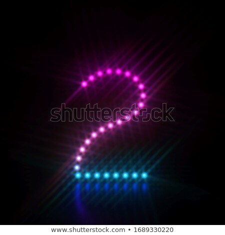 Pink blue dot light font Number 2 TWO 3D Stock photo © djmilic